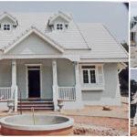 บ้านสไตล์โคโลเนียล โดดเด่นในโทนสีขาว 2 ห้องนอน 2 ห้องน้ำ (ก่อสร้างในจังหวัดขอนแก่น)