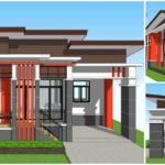 แบบบ้านชั้นเดียวยกพื้น สไตล์โมเดิร์นสุดเรียบง่าย  3 ห้องนอน 2 ห้องน้ำ พื้นที่ใช้สอย 100 ตารางเมตร