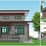 แบบบ้านทรงโมเดิร์นลอฟท์ พื้นที่พักผ่อน 1 ชั้นครึ่ง ครบครันคุ้มค่า งบก่อสร้างเริ่มต้น 850,000 บาท