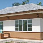 บ้านทรงปั้นหยา เน้นการออกแบบเรียบง่าย พร้อมพื้นที่ใช้สอย 35.75 ตารางเมตร ในงบก่อสร้างเพียง 350,000 บาท