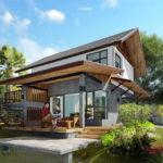 แบบบ้านสวนริมน้ำ พร้อมชานและดาดฟ้าพักผ่อน กว้างขวางด้วยพื้นที่ใช้สอยรวม 204 ตารางเมตร