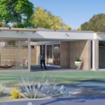 แบบบ้านโมเดิร์นทรงตัวแอล ขนาดเล็กกะทัดรัด 1 ห้องนอน  1 ห้องน้ำ พร้อมห้องนั่งเล่นนอกตัวบ้าน