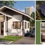 แบบบ้านหลังเล็กทรงหน้าจั่ว ดีไซน์สุดเรียบง่าย 1 ห้องนอน 1 ห้องน้ำ งบก่อสร้างเริ่มต้นที่ 250,000 บาท