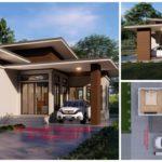 แบบบ้านชั้นเดียวทรงโมเดิร์น ตกแต่งเรียบหรูดูดี2 ห้องนอน 2 ห้องน้ำ พร้อมที่จอดรถ งบก่อสร้าง 950,000 บาท