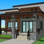 แบบบ้านชั้นเดียวสไตล์โมเดิร์นลอฟท์ 2 ห้องนอน 2 ห้องน้ำ งบก่อสร้างเริ่มต้น 850,000 บาท