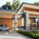 แบบบ้านชั้นเดียวสไตล์โมเดิร์นลอฟท์ พร้อมที่จอดรถ ขนาด 3 ห้องนอน 2 ห้องน้ำ งบก่อสร้าง 1.6 ล้านบาท