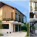"""สร้างบ้านจากแบบบ้านฟรีของ ธอส. """"แบบบ้านใต้เงา"""" บ้านสองชั้นแนวประหยัดพลังงาน ตกแต่งสวยงามครบครัน"""