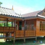 บ้านไม้ทรงไทยขนาดเล็ก ก่อสร้างด้วยไม้สัก ขนาด 3 ห้องนอน 1 ห้องน้ำ พร้อมศาลา งบก่อสร้าง 800,000 บาท