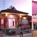 บ้านพักอาศัยทรงร่วมสมัย ตกแต่งโทนสีอ่อนหวาน ขนาด 3 ห้องนอน 2 ห้องน้ำ งบประมาณก่อสร้างเริ่มต้นที่850,000 บาท