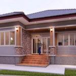 แบบบ้านชั้นเดียวสไตล์คอนเทมโพรารี พร้อมระเบียงสวย 4 ห้องนอน 2 ห้องน้ำ งบก่อสร้าง 1.5 ล้านบาท