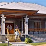 แบบบ้านชั้นเดียวสไตล์คอนเทมโพรารี สวยเด่นด้วยหลังคาทรงปั้นหยาเล่นระดับ 3 ห้องนอน 2 ห้องน้ำ งบก่อสร้าง 1.5 ล้านบาท