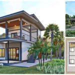 แบบบ้านสองชั้นสไตล์โมเดิร์น พร้อมระเบียงสวย พักผ่อนชมวิวได้เต็มที่ งบก่อสร้าง 1.2 ล้านบาท