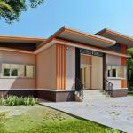 แบบบ้านชั้นเดียวสไตล์โมเดิร์น สวยเด่นด้วยหลังคาทรงเล่นระดับ 3 ห้องนอน 1 ห้องน้ำ งบก่อสร้างเริ่มต้น 700,000 บาท
