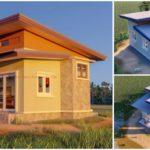 แบบบ้านชั้นเดียวขนาดเล็ก สไตล์โมเดิร์น 1 ห้องนอน 1 ห้องน้ำ งบประมาณก่อสร้าง 400,000 บาท