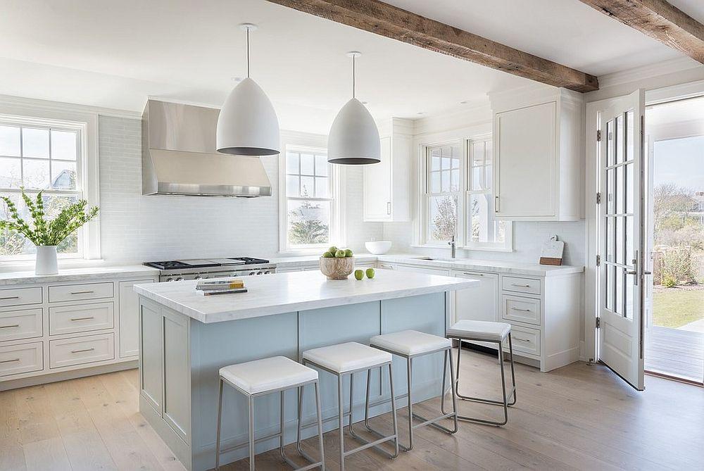 25 ไอเดียตกแต่ง ห้องครัว ด้วย ไม้และสีขาว สวยเนี้ยบ