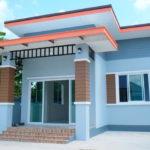 บ้านชั้นเดียวสไตล์โมเดิร์น สวยสดในโทนสีฟ้า 3 ห้องนอน 2 ห้องน้ำ พื้นที่ใช้สอย 88 ตารางเมตร