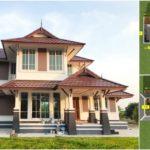 บ้านทรงไทยประยุกต์ขนาดสองชั้น  4 ห้องนอน 3 ห้องน้ำ งบก่อสร้างเริ่มต้นที่ 2 ล้านบาท