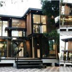 บ้านสำเร็จรูปขนาดสองชั้นรูปทรงตัวแอล (L-Shape) ออกแบบในสไตล์โมเดิร์น งบก่อสร้างอยู่2.29 ล้านบาท