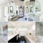 """33 ไอเดีย """"ห้องน้ำโทนสีขาว"""" เรียบง่ายแต่สวยสง่า อาบน้ำชำระร่างกายในบรรยากาศสุดผ่อนคลาย"""