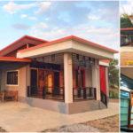 บ้านชั้นเดียวสไตล์โมเดิร์นขนาดกะทัดรัด ตกแต่งในโทนสีสวยสด 3 ห้องนอน1 ห้องน้ำ งบก่อสร้าง 750,000 บาท
