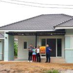 บ้านชั้นเดียวรูปทรงร่วมสมัย พร้อมเรือนครัวนอกตัวบ้าน 4 ห้องนอน 2 ห้องน้ำ งบก่อสร้าง 1.58 ล้านบาท