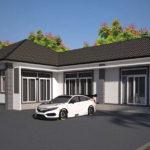 แบบบ้านชั้นเดียวรูปทรงตัวแอล (L-Shaped House) 3 ห้องนอน 1 ห้องน้ำ พื้นที่ใช้สอย 173 ตารางเมตร