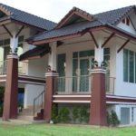 บ้านชั้นเดียวทรงไทยประยุกต์ ยกพื้นเล่นระดับ 2 ห้องนอน 1 ห้องน้ำ งบก่อสร้างประมาณ 1.1 ล้านบาท