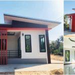 บ้านชั้นเดียวสไตล์โมเดิร์น ขนาดกะทัดรัด 2 ห้องนอน1 ห้องน้ำ สำหรับครอบครัวเริ่มต้น