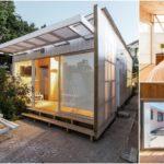 """บ้านท้ายสวนหลังน้อย """"Polycarbonate Cabin"""" สร้างจากแผ่นโพลีคาร์บอเนต ตกแต่งภายในด้วยงานไม้ บรรยากาศเรียบง่ายอบอุ่น"""