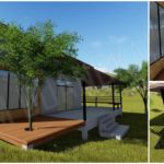 แบบบ้านยกพื้นสไตล์โมเดิร์นกลิ่นอายแบบร้านกาแฟ พร้อมมุมพักผ่อนกว้างขวางเหมาะสร้างเป็นบ้านสวน