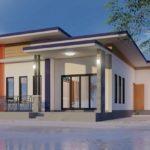 แบบบ้านโมเดิร์นชั้นเดียว ครบทุกฟังก์ชันการใช้งาน ในขนาด 3 ห้องนอน 1 ห้องน้ำ งบประมาณเริ่มต้นที่ 695,000 บาท