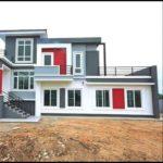 บ้านสองชั้นสไตล์โมเดิร์นทรอปิคอล มีดาดฟ้า 3 ห้องนอน 2 ห้องน้ำ งบก่อสร้าง 2.45 ล้านบาท (ก่อสร้างจังหวัดเชียงราย)