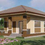 บ้านชั้นเดียวสไตล์คอนเทมโพรารี  โทนสีน้ำตาลอบอุ่น 2 ห้องนอน 1 ห้องน้ำ พร้อมระเบียงหน้าบ้าน