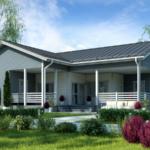 แบบบ้านชั้นเดียวสไตล์คันทรี 3 ห้องนอน 2 ห้องน้ำ เหมาะสร้างเป็นบ้านตากอากาศหรือรีสอร์ตต่างจังหวัด