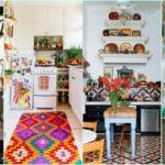 """65 ไอเดีย """"ห้องครัวสีสันสวยสด"""" ตกแต่งมุมทำอาหารสุดชิคในสไตล์โบฮีเมียน"""