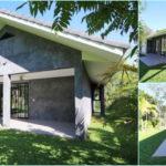 บ้านชั้นเดียวสไตล์โมเดิร์น ออกแบบโปร่งสบาย ตกแต่งด้วยผนังปูนเปลือย 2 ห้องนอน 2 ห้องน้ำ พื้นที่ 110 ตร.ม.