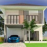 แบบบ้านสองชั้นสไตล์คอนเทมโพรารี ออกแบบเพื่อครอบครัวใหญ่ด้วยขนาด 4 ห้องนอน 3 ห้องน้ำ