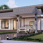 แบบบ้านชั้นเดียวสไตล์โมเดิร์น 3 ห้องนอน 4 ห้องน้ำ ออกแบบภายในกว้างขวางและเป็นสัดส่วน