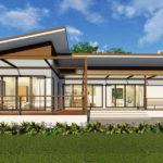 แบบบ้านโมเดิร์นรูปทรงตัวแอล (L-Shaped House) 3 ห้องนอน 2 ห้องน้ำ ออกแบบเรียบง่าย เพื่อไลฟ์สไตล์แห่งการพักผ่อน
