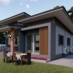 แบบบ้านชั้นเดียวสไตล์โมเดิร์นลอฟท์ เรียบง่าย ทันสมัย 3 ห้องนอน 2 ห้องน้ำ พื้นที่ใช้สอย 120 ตร.ม.