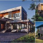 แบบบ้านโมเดิร์นลอฟท์สองชั้น โดดเด่นด้วยรูปทรงเรขาคณิต พร้อมโชว์ผิววัสดุปูนเปลือยและไม้สุดเท่