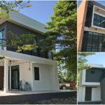 บ้านสองชั้นสไตล์โมเดิร์น ออกแบบเพื่อการประกอบธุรกิจหรือทำสำนักงาน พื้นที่ใช้สอย 207 ตร.ม.