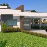 แบบบ้านชั้นเดียวหน้าแคบสไตล์โมเดิร์น ฟังก์ชันครบครัน จัดสรรลงตัวทุกองค์ประกอบ 3 ห้องนอน 3 ห้องน้ำ พร้อมโรงจอดรถ