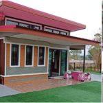 บ้านชั้นเดียวขนาดกะทัดรัด ตกแต่งด้วยวัสดุหลากหลาย2 ห้องนอน 2 ห้องน้ำ พื้นที่ใช้สอย 81 ตร.ม.