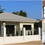 บ้านชั้นเดียวสไตล์โมเดิร์นทรอปิคอล หลังคาทรงปั้นหยา3 ห้องนอน 2 ห้องนอน เข้ากับอากาศร้อนเมืองไทย