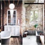 """25 ไอเดีย """"ห้องน้ำผนังอิฐ"""" สวยแบบคลาสสิค เพิ่มความดิบเท่ให้กับบรรยากาศในห้องน้ำ"""