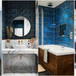 """97 ไอเดีย """"ห้องน้ำโทนสีฟ้า"""" สร้างบรรยากาศที่เย็นสบายตาแบบท้องฟ้าและน้ำทะเล"""