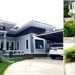 บ้านโมเดิร์นพร้อมสวนและบ่อปลา 2 ห้องนอน 1 ห้องน้ำ สดชื่นรื่นรมย์ไปกับมุมพักผ่อนหน้าบ้าน