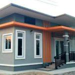บ้านโมเดิร์นชั้นเดียวโทนสีส้ม ขนาดกะทัดรัด พื้นที่ใช้สอย 78 ตร.ม. งบประมาณ 800,000 บาท
