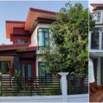 บ้านชั้นครึ่งสไตล์โมเดิร์น โทนสีแดงเลือดหมู 3 ห้องนอน 2 ห้องน้ำ พื้นที่ใช้สอย 158 ตร.ม.
